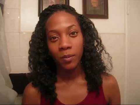 Crochet Braid Hair Style with Model Model Marley Braid - YouTube