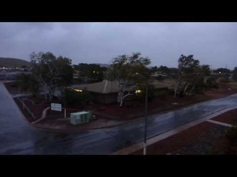 Tropical Cyclone Christine heading towards Wickham, Western Australia