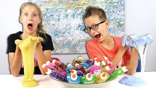 3 Colors of Glue Slime Challenge! PART 2!!!