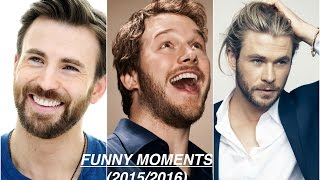 Chris Evans,Chris Hemsworth,Chris Pratt (FUNNY MOMENTS)