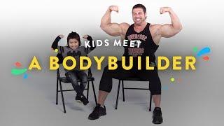 Kids Meet a Body Builder | Kids Meet | HiHo Kids