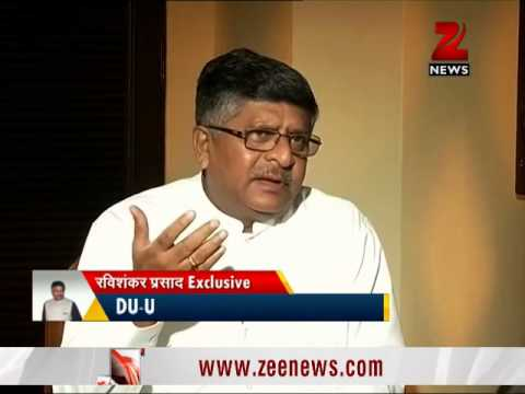 Zee Exclusive Interview with Minister of Law and Justice, Ravi Shankar Prasad