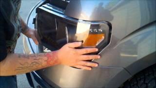 2011 Ford F150 CCFL Halo Projector Headlights Install