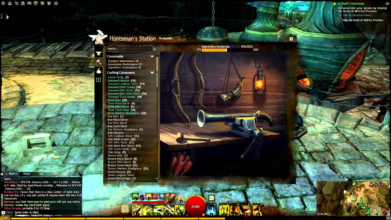 Guild Wars  Crafting Guide Huntsman