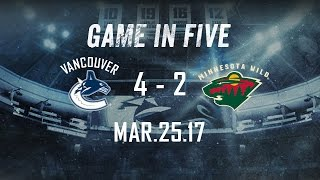 Canucks vs. Wild Game in Five (Mar. 25, 2017)