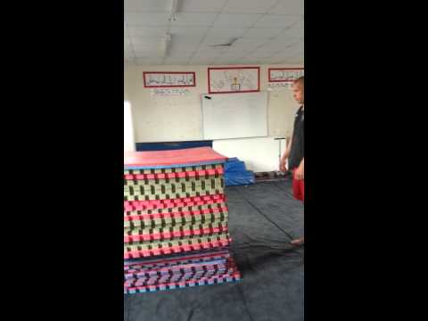 45 inch jump onto mats-105kg athlete