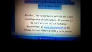 ~ Codigo Monster High Llave Monstruosa Sweet 1600