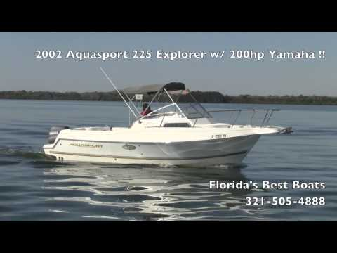 2002 Aquasport 225 Explorer w/ 200hp Yamaha!!
