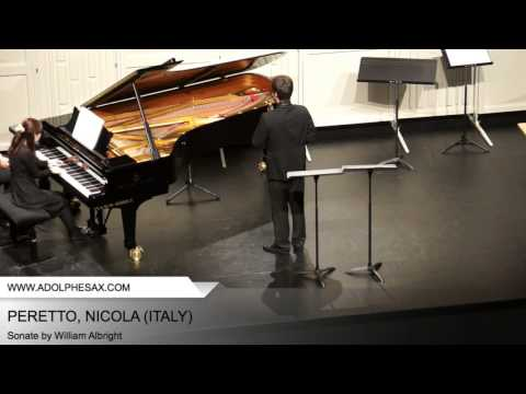 Dinant 2014 - PERETTO, NIcola (Sonate by William Albright)