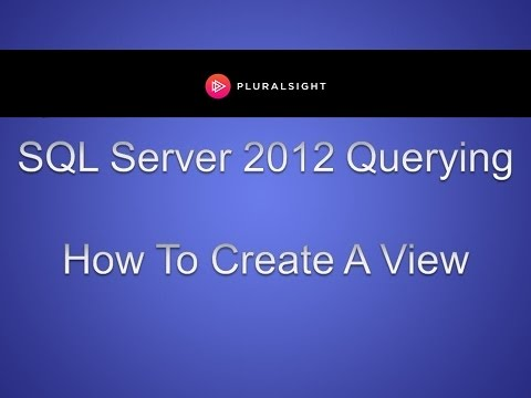 How to Create SQL Views