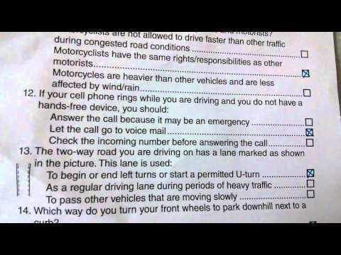 California dmv written test 6th feb 2014