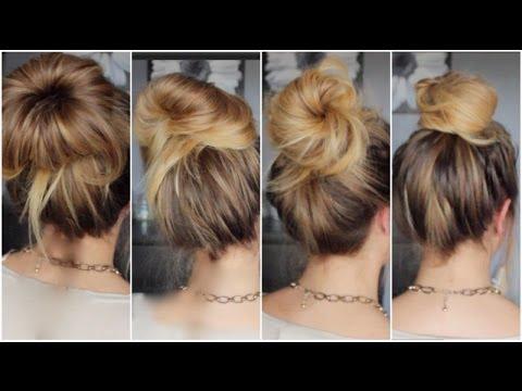 tutoriel coiffure n 26 4 messy bun rapides youtube. Black Bedroom Furniture Sets. Home Design Ideas