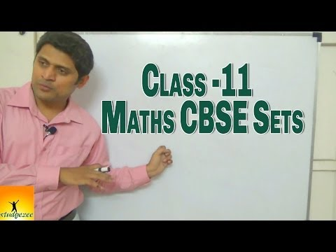 Class 11 XI Maths CBSE  Sets Part 1