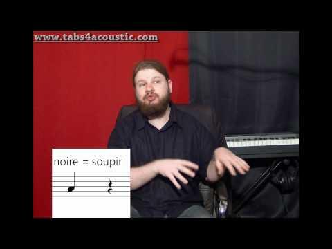 Cours de guitare : Le rythme 1 : Noires, blanches, rondes - Partie 1