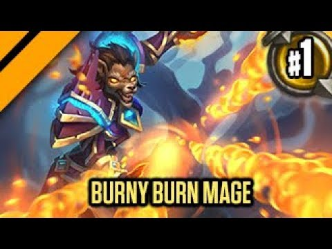 Hearthstone:  The Witchwood - Burny Burn Mage! P1