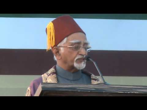 AMU:Address by M.Hamid Ansari Vice President Of India