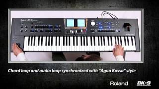 Chord Loop and audio loop synchronized on Roland BK9.