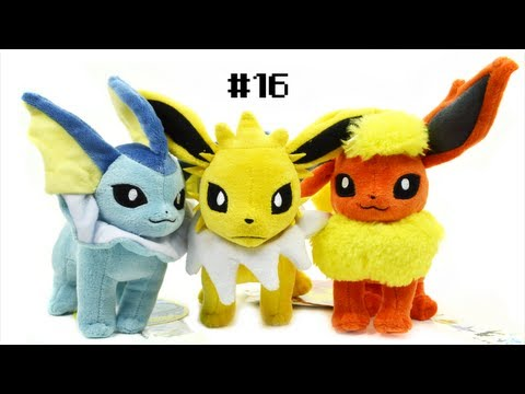 Friday Plush Review #16: Vaporeon, Jolteon, & Flareon Pokémon Center Plush