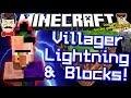 Minecraft VILLAGER LIGHTNING & New Blocks in 1.8!