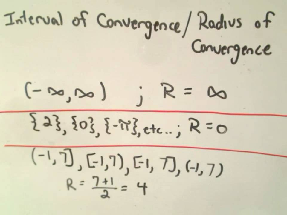 how to find the interval of convergence in one easy lesson Using the ratio test to find the interval of convergence for a power series in this problem we will be using the ratio test to find our interval of convergence.