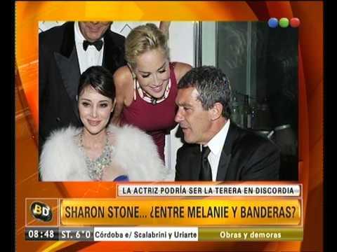 Sharon Stone y Antonio Banderas ¿romance en puerta? - Telefe Noticias