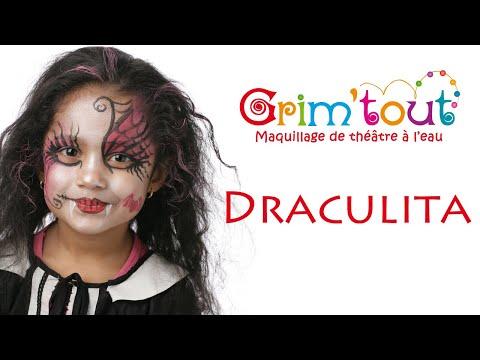 Maquillage Draculita. Tutoriel maquillage enfant