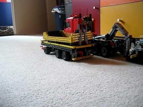 lego technic 8258 als hakenlift mit anh nger hook lift. Black Bedroom Furniture Sets. Home Design Ideas