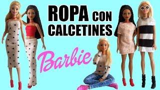 Cómo vestir a tu Barbie utilizando calcetines