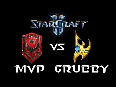 StarCraft 2 - MVP [T] vs Grubby [P] (Commentary)