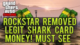 GTA Online: Rockstar Removed Legit Bought Shark Card Money