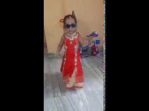 indian little baby girl danching with kala chosma song