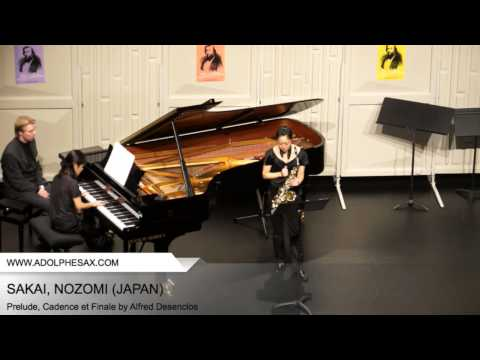 Dinant 2014 - SAKAI Nozomi (Prelude, Cadence et Finale by Alfred Desenclos)