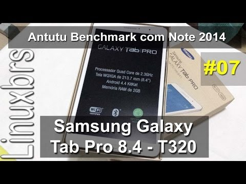 Samsung Galaxy Tab Pro 8.4 e Note 10.1 2014 - Teste com Antutu - PT-BR - Brasil