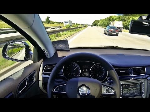 Skoda Superb 2.0 TDI 170 Facelift 2014 Autobahn Acceleration Top Speed