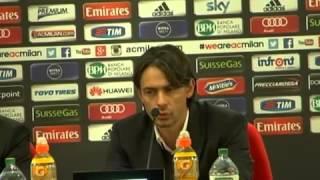 Milan, Inzaghi: 'Cerci ha bisogno di recuperare. Destro? È alla Roma'
