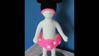 Tutorial How To Crochet Minnie Mouse Outfit (part 2