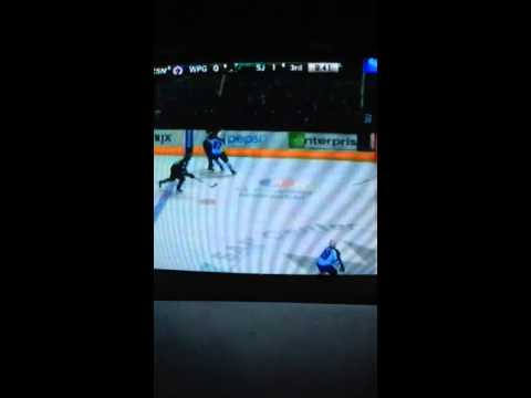 Winnipeg Jets vs San Jose Sharks 1/23/2014 part 2