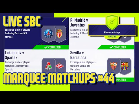 FIFA 18 - Marquee Matchups SBC #44 & Pack Opening