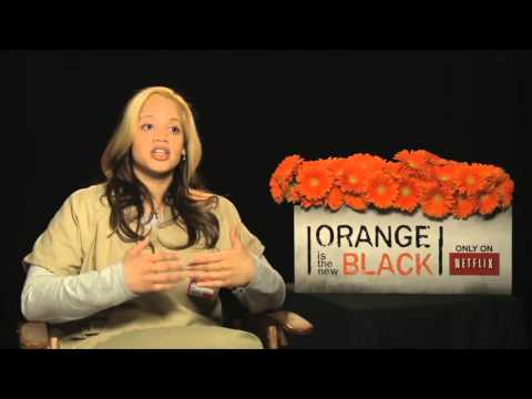 ▶ Dascha Polanco's Official 'Orange is the New Black Interview   Celebs com   YouTube 720p