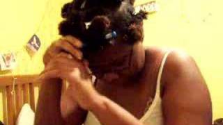 How To Roller Set Afro Kinky Hair