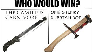 Worst Knife EVER? -The Camillus CARNIVORE vs. Axe Made of Literal Trash-