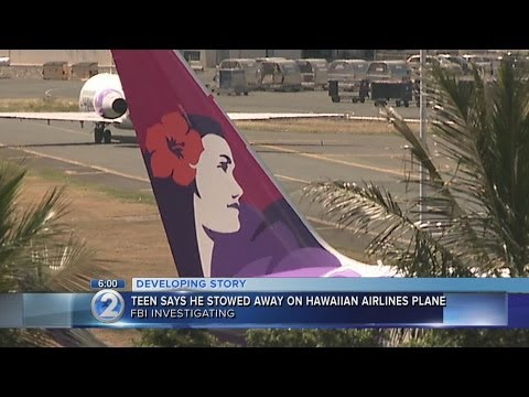 FBI investigating 16-year-old stowaway that survived unharmed in wheel well of California-Hawaii flight.