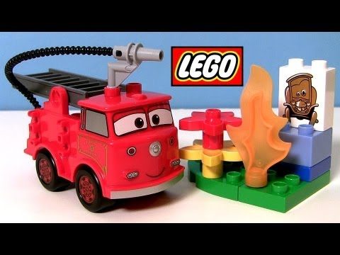 Disney Cars Lego Duplo RED From Pixar car-toys how to build a Radiator Springs fire truck