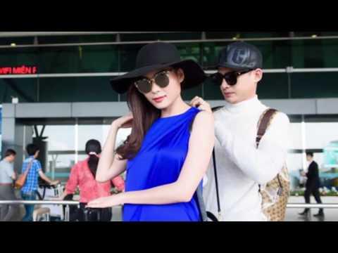 Lương Thế Thành chăm sóc Thúy Diễm ở sân bay(tin tuc sao viet)