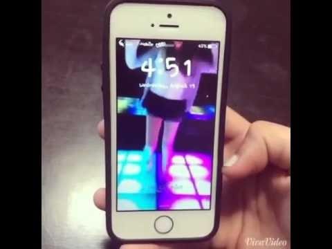 Cách cài video làm màn hình khoá cho iPhone   Video Girl Dance iPhone