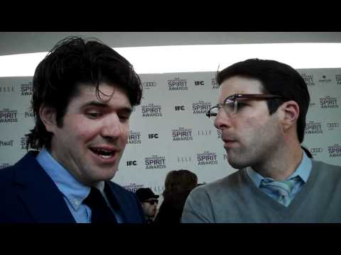 JC Chandor and Zachary Quinto at the Film Independent Spirit Awards