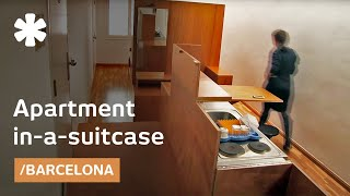 House in a suitcase: tiny home + 2 trunks of furniture