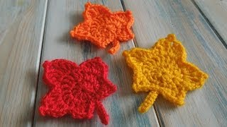 (crochet) How To Crochet A Maple Leaf