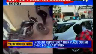 Viral Video : Youth being thrashed black and blue in Hyderabad