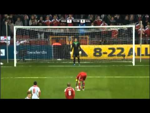 Daniel Agger penalty against Malta 15/10/13